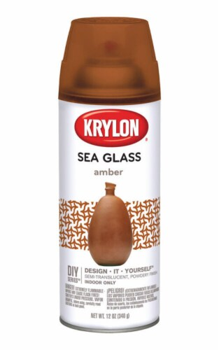 Krylon  Semi-Translucent  Amber  Sea Glass Spray  12 oz. - Case Of: 6; Perspective: front