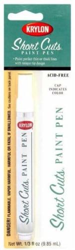 Krylon® Short Cut Gloss Paint Pen - White Perspective: front