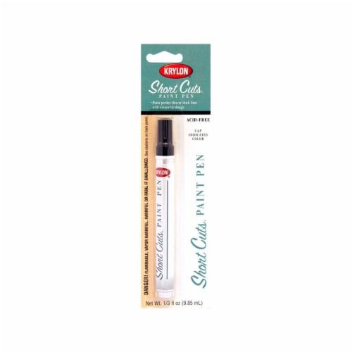 Krylon® Short Cuts Gloss Paint Pen - Black Perspective: front