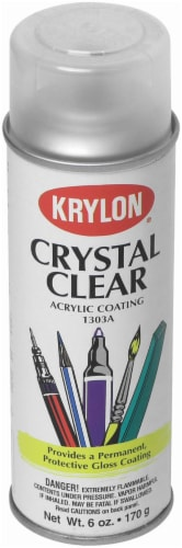 Krylon® Crystal Clear Acrylic Coating Spray Perspective: front