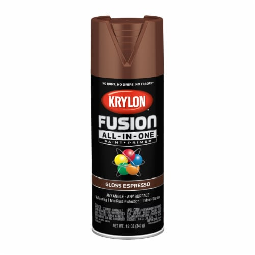 Krylon® Fusion All-In-One Gloss Paint & Primer - Espresso Perspective: front