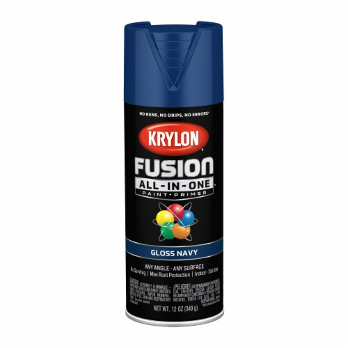 Krylon® Fusion All-In-One Navy Gloss Paint & Primer Perspective: front