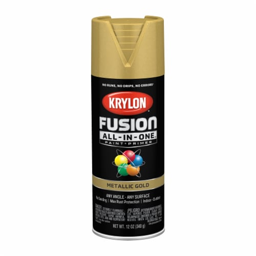 Krylon® Fusion All-In-One™ Gold Metallic Paint & Primer Perspective: front