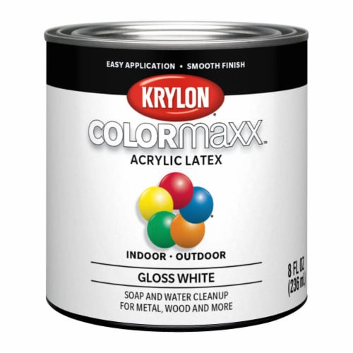 Krylon® ColorMaxx Acrylic Latex Paint - Gloss White Perspective: front