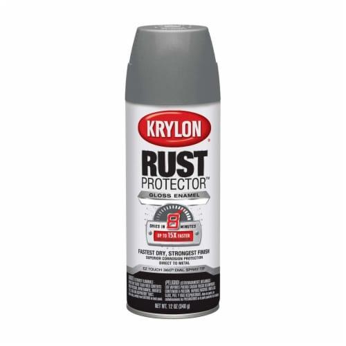 Krylon® Rust Protector™ Gloss Enamel Spray Paint - Smoke Gray Perspective: front
