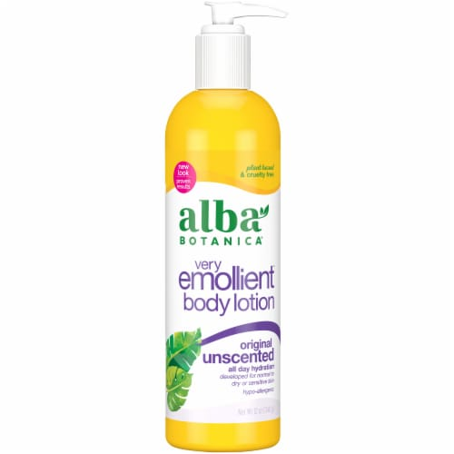 Alba Botanica Very Emollient Unscented Original Body Lotion Perspective: front
