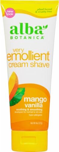 Alba Botanica Mango Vanilla Very Emollient Cream Shave Perspective: front