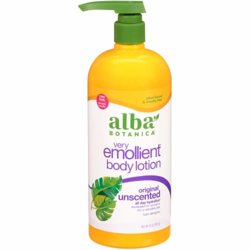 Alba Botanica Very Emollient Unscented Body Lotion Perspective: front