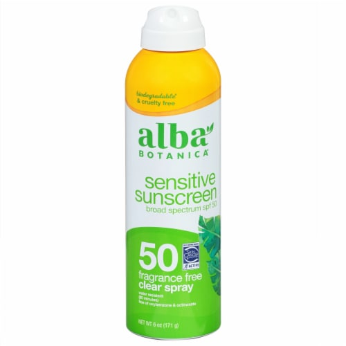 Alba Botanica Fragrance Free Clear Sunscreen Spray SPF 50 Perspective: front