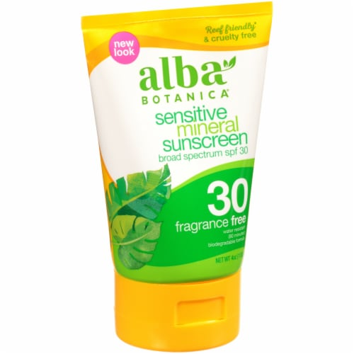 Alba Botanica Fragrance-Free SPF 30 Sensitive Mineral Sunscreen Perspective: front