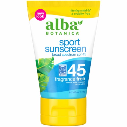 Alba Botanica Natural Very Emollient Sunscreen Sport SPF 45 Perspective: front