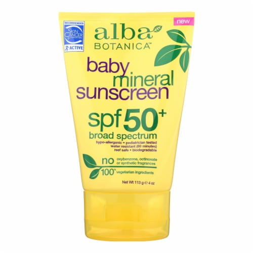 Alba Botanica Baby Mineral Sunscreen SPF 50 Perspective: front