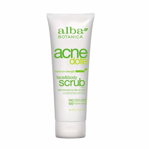 Alba Botanica Acnedote Face & Body Scrub Perspective: front