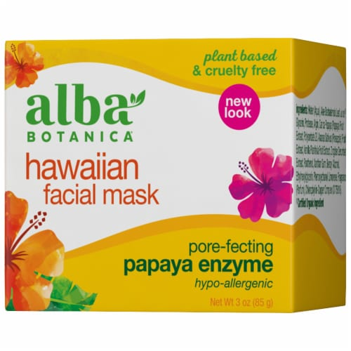 Alba Botanica Hawaiian Papaya Enzyme Facial Mask Perspective: front