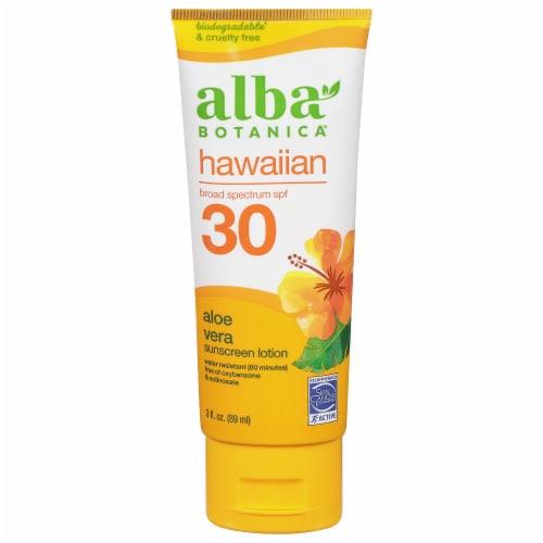 Alba Aloe Vera Sunscreen SPF 30 Perspective: front