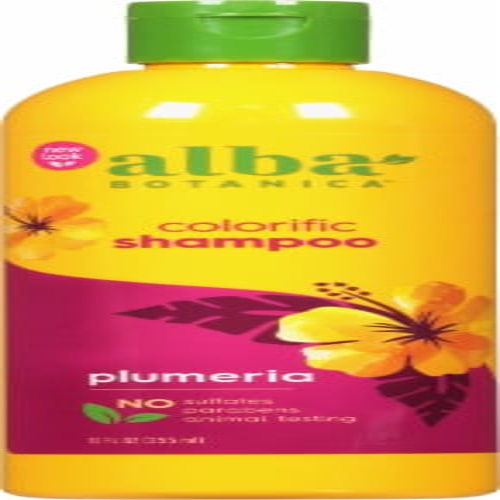 Alba Botanica Colorific Plumeria Hawaiian Shampoo Perspective: front