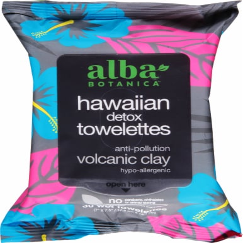 Alba Botanica Hawaiian Detox Towelettes Perspective: front