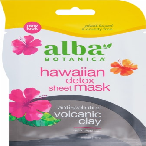 Alba Botanica Volcanic Clay Hawaiian Detox Sheet Mask Perspective: front