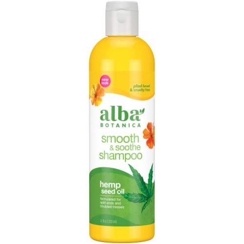 Alba Botanica Hemp Seed Oil Smooth & Soothe Shampoo Perspective: front