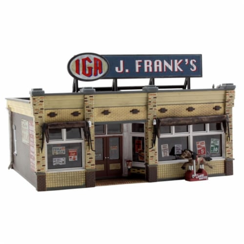 Woodland Scenics WOO5050 HO Scale J. Franks Grocery Perspective: front