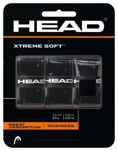 HEAD Xtreme Soft™ Tennis Overgrip - Black Perspective: front