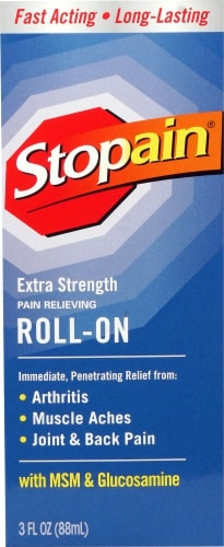 Stopain  Roll-On Pain Relieving Extra Strength Perspective: front