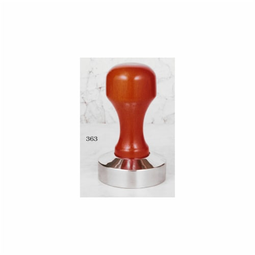 European Gift & Houseware 53 mm Stainless Steel & Wood Tamper Perspective: front