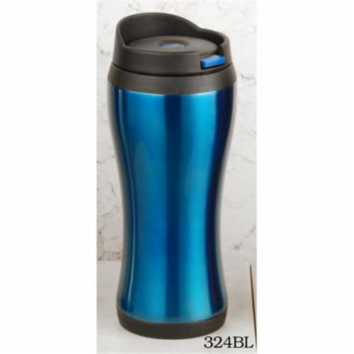 European Gift & Houseware 14 oz Double Wall Tumbler, Blue Perspective: front