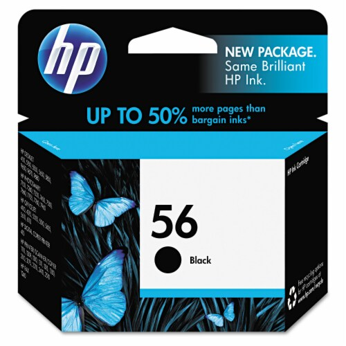 HP 56 Ink Cartridge - Black Perspective: front