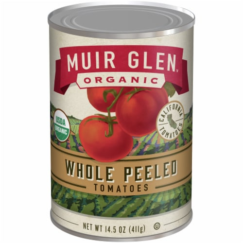 Muir Glen Organic Tomatoes - Whole Peeled - 14.5 oz - Pack of 3 Perspective: front