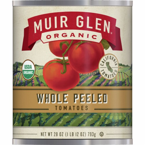 Muir Glen Organic Whole Peeled Tomatoes Perspective: front