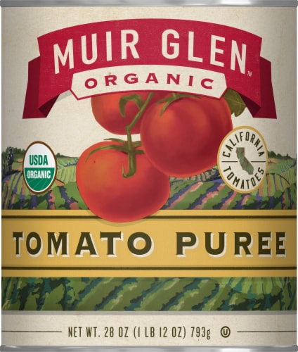 Muir Glen Organic Tomato Puree Perspective: front