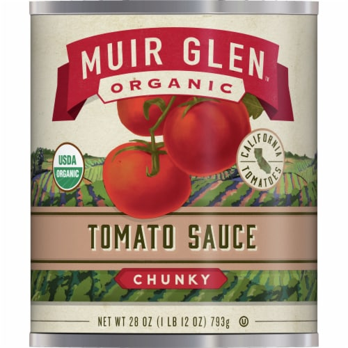 Muir Glen Organic Chunky Tomato Sauce Perspective: front