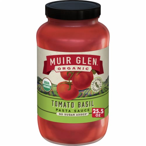 Muir Glen Organic No Sugar Added Tomato Basil Pasta Sauce Perspective: front