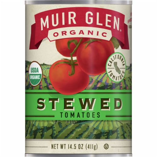 Muir Glen Organic Stewed Tomatoes Perspective: front