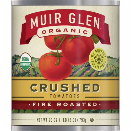 Muir Glen Organic Fire Roasted Crushed Tomatoes Perspective: front