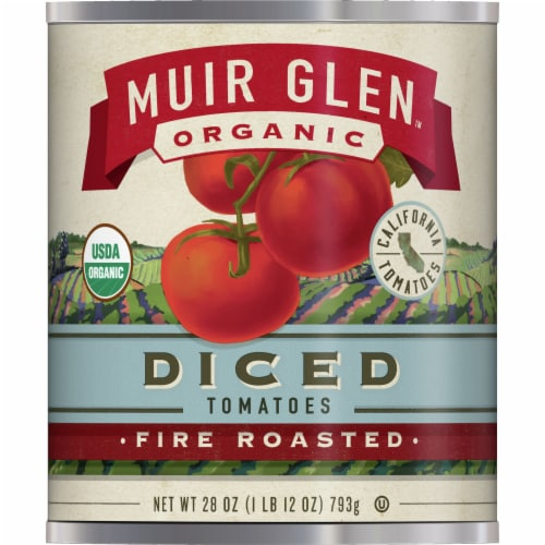 Muir Glen Organic Fire Roasted Diced Tomatoes Perspective: front