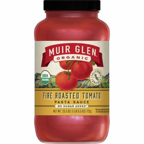 Muir Glen Organic No Sugar Added Fire Roasted Tomato Pasta Sauce Perspective: front