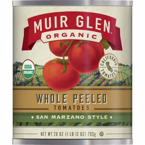Muir Glen Organic San Marzano Style Whole Peeled Tomatoes Perspective: front