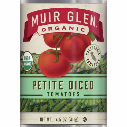 Muir Glen Organic Petite Diced Tomatoes Perspective: front