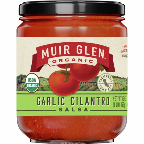 Muir Glen Organic Garlic Cilantro Salsa Perspective: front
