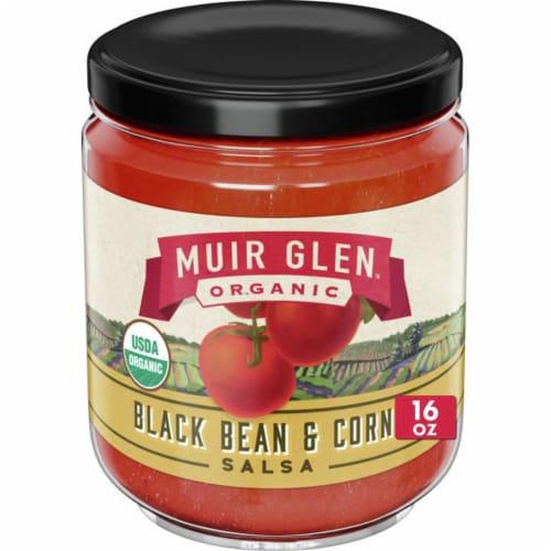 Muir Glen Organic Black Bean & Corn Salsa Perspective: front