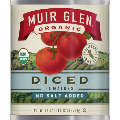 Muir Glen Organic Diced Tomatoes Perspective: front