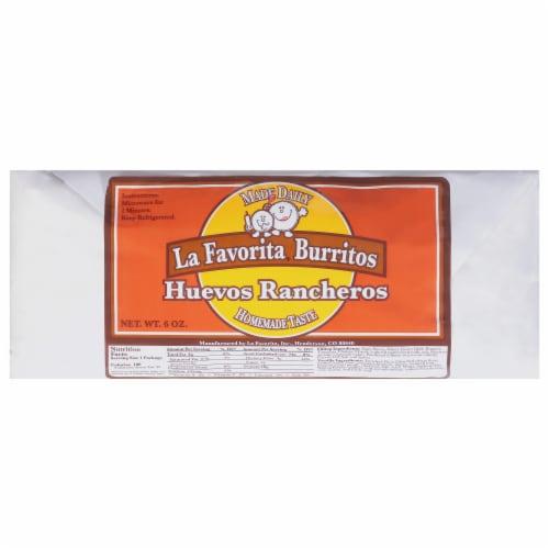 La Favorita Huevos Rancheros Burrito Perspective: front