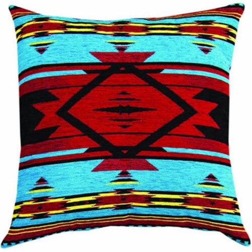 Manual Woodworkers & Weavers APFBRT 26 in. Flame Bright Tapestry Throw Pillow Perspective: front