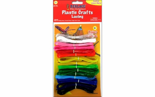 Pepperell Rexlace® The Original Plastic Crafts Super Value Pack Lacing Perspective: front