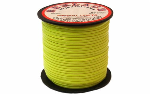Pepperell Rexlace 100yd Spool Neon Yellow Perspective: front