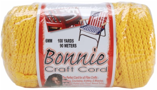 Bonnie Macrame Craft Cord 6mmX100yd-Sunshine Yellow Perspective: front