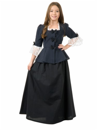 Seasons Medium 8-10 Colonial Girl Costume Perspective: front