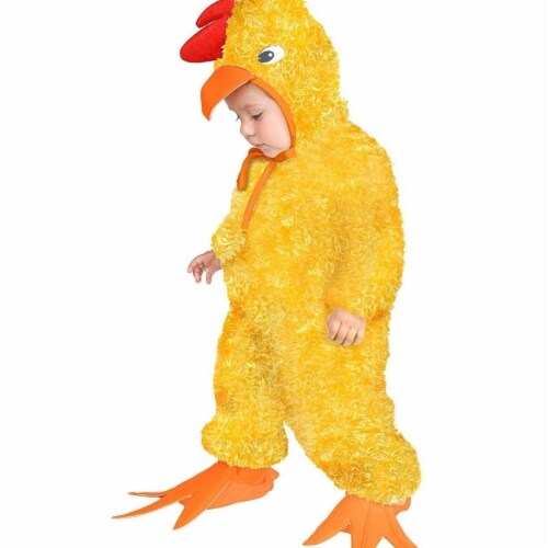 Charades 407868 Child Chick Costume for Boys, Medium 8-10 Perspective: front
